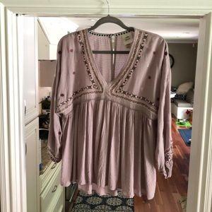 Boho style blouse with 3/4 sleeves
